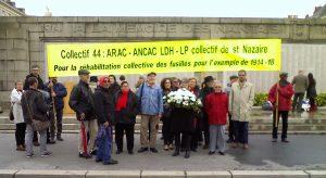11 novembre 2014 à Nantes, Collectif départemental pour la réhabilitation des Fusillés pour l'exemple